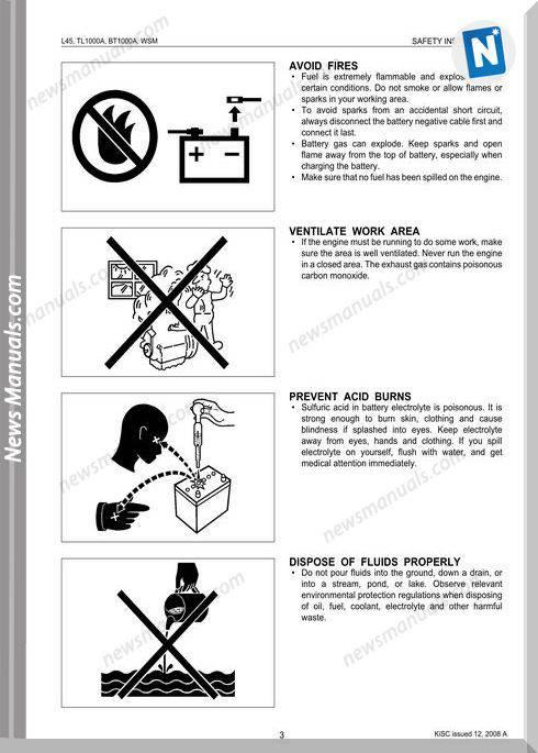 Kubota Serie L45,Tl1000A,Bt1000A Workshop Manual