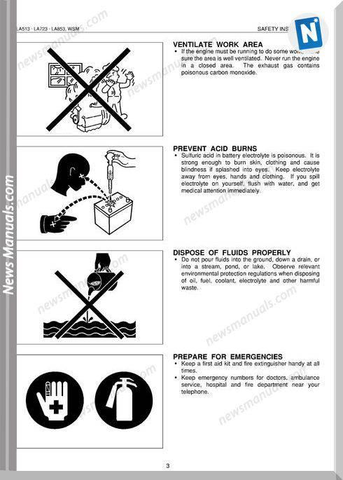 Kubota Series La513-853 E Workshop Manual
