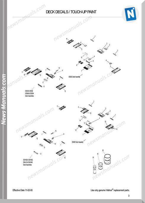 Kubota Walker Deck Dx-46813 Dx-68358 Workshop Manual