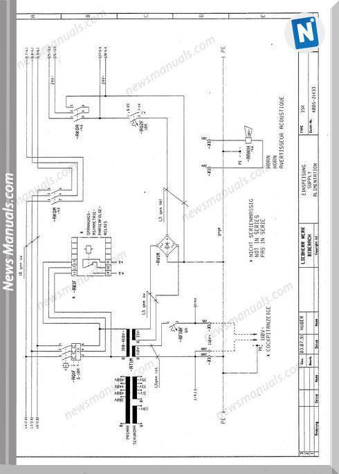 Liebherr 35K Tower Crane Electrical Schematic