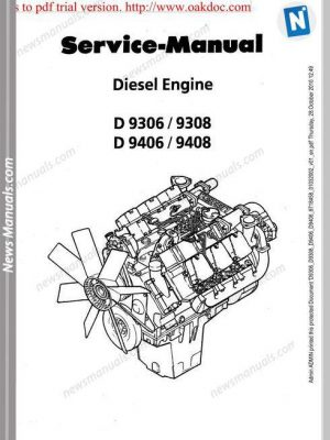 Komatsu Engine Sa6D125-1 Shop Manuals