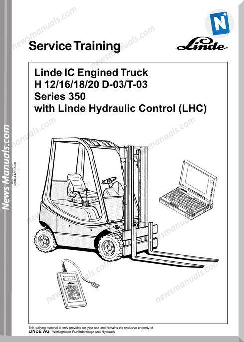 Linde Ic Engine H12-20,D-03,T-03 350 Service Training
