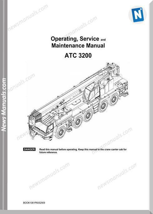 Linkbelt Crane Atc-3200 No 1061 Service Manual