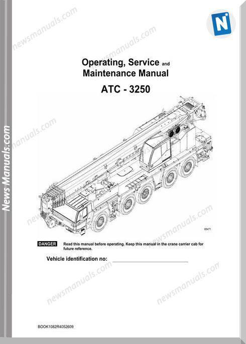 Linkbelt Crane Atc-3250 Service Maintenance Manual