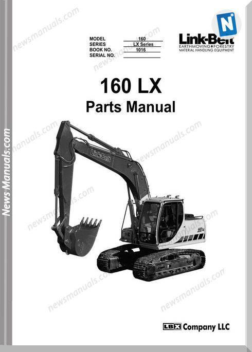 Linkbelt Excavators 160 Lx Part Manual