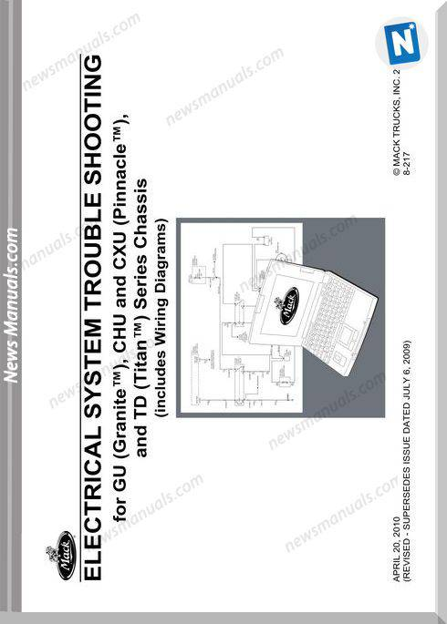 Mack Trucks 2010 Gu Chu Cxu Models Wiring Diagram