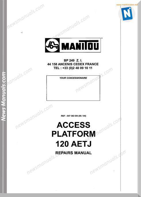 Manitou Access Platform 120 Aetj Service Sec Wat