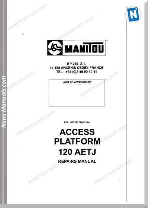 Manitou Forklift Access-Platform_120Aetj Parts Manual
