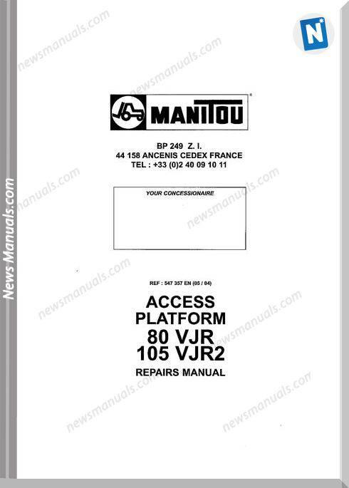 Manitou Forklift Access-Platform_80-105Vjr Parts Manual