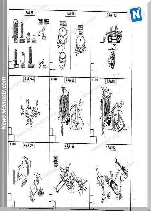 Manitou Forklift Mt 1645 Hsl 547784 Parts Manual