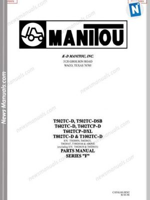 Takeuchi Tb108 Excavator No Cb5E002 Workshop Manuals