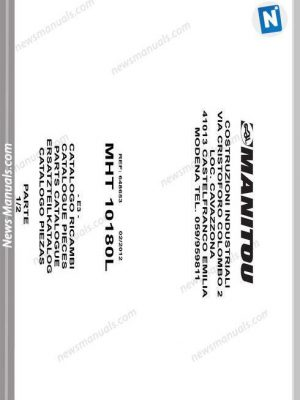 Manitowoc Crane 14000 Shop And Maitenance Manual