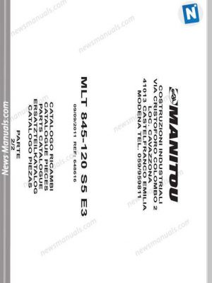 Manitou Telescopic Mlt 845-120S5E3 Parte2 Parts Manuals