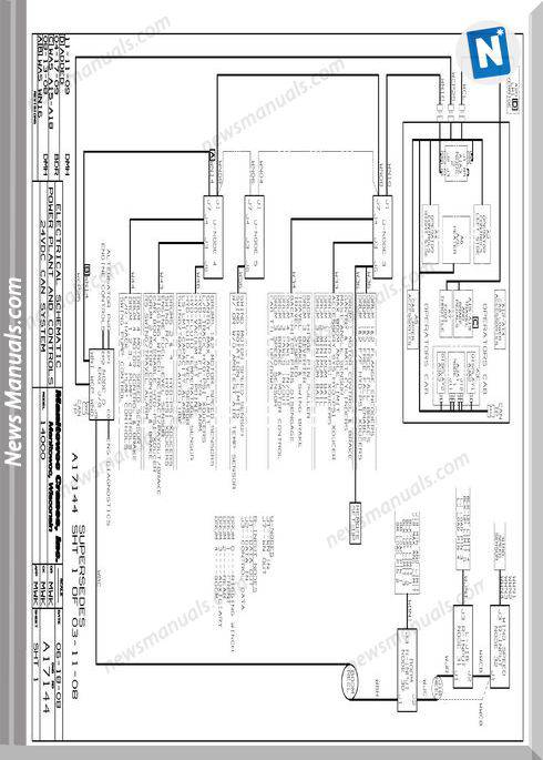 Manitowoc Crane 14000 Electrical Shematic Power Manual