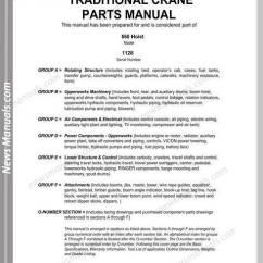 Crane Parts Diagram Commando Remote Start Wiring Manitowoc 660 Traditional Hoist Manual