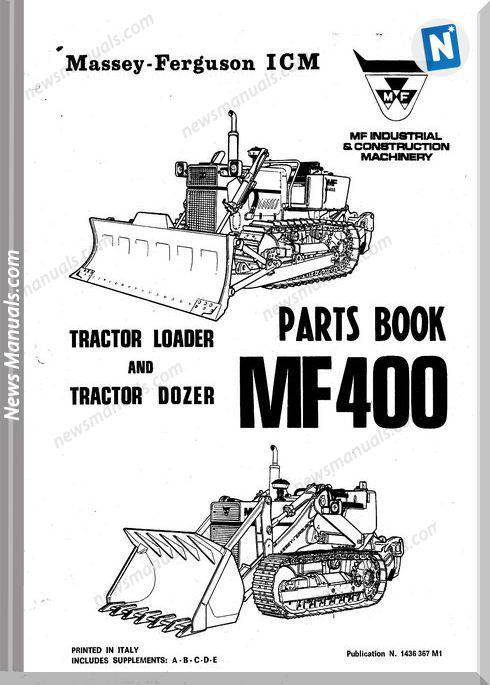 Massey Ferguson Mf 400 Pm 1436 367 M1 Parts Book