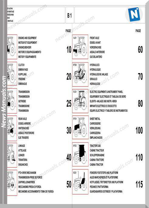 Massey Ferguson Mf 4245 4255 Part Catalogue