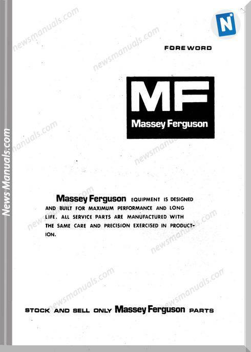 Massey Ferguson Mf 55 Wheel Loader Part Manual