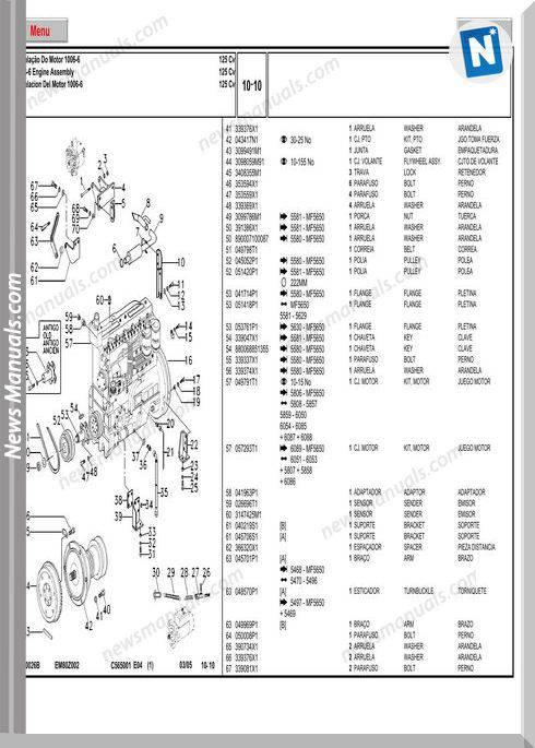 Massey Ferguson Mf 5650 Tractor Part Catalogue