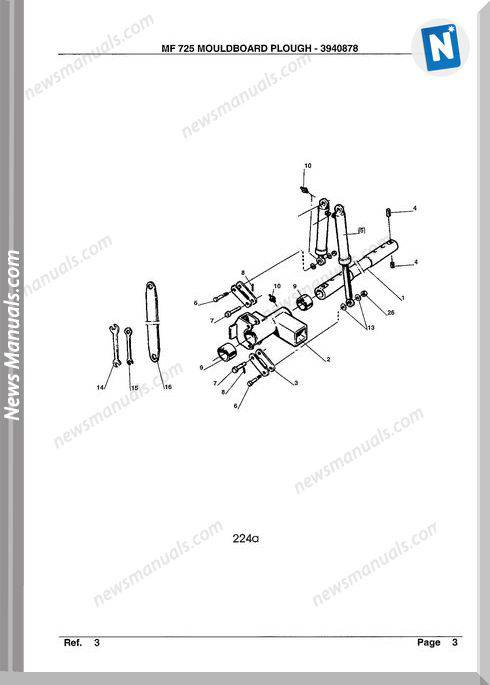Massey Ferguson Mf 725 Tractor Part Catalogue