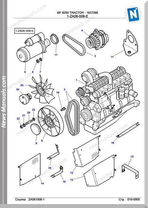 Massey Ferguson Mf 8250 Tractor Part Catalogue