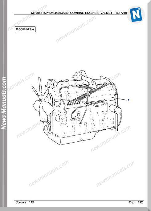 Massey Ferguson Mf30 32 34 36 38 40 612Dsl Parts Manual