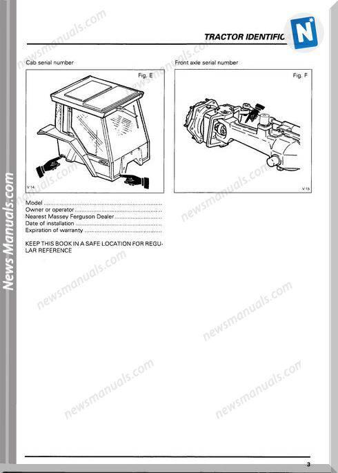 Massey Ferguson Mf6100 Tractors Operator Instruction