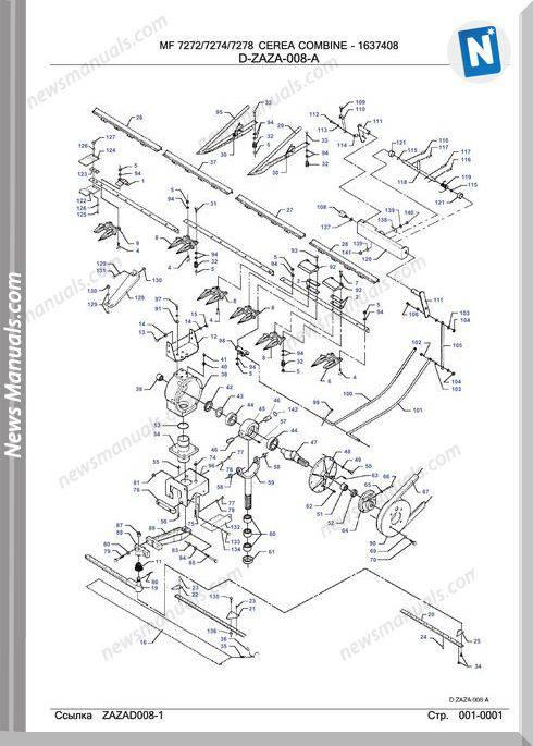 Massey Ferguson Mf7272 7274 7278 Tractor Part Catalogue