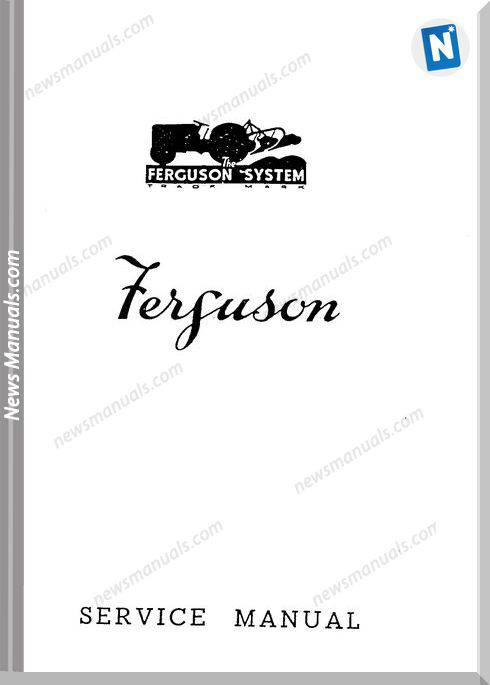 Massey Ferguson Tractor Te20 Repair Manual