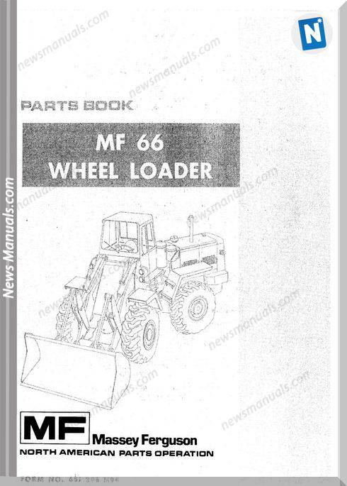 Massey Ferguson Wheel Loader 66 Parts Manual