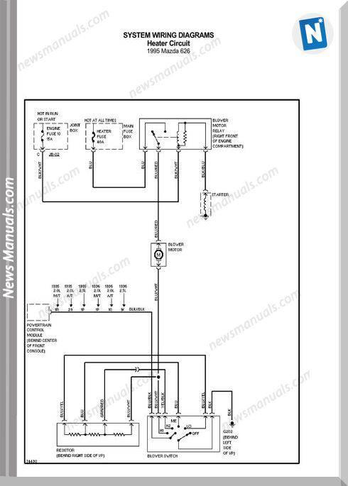 Mazda 626 1995 Wiring Diagrams