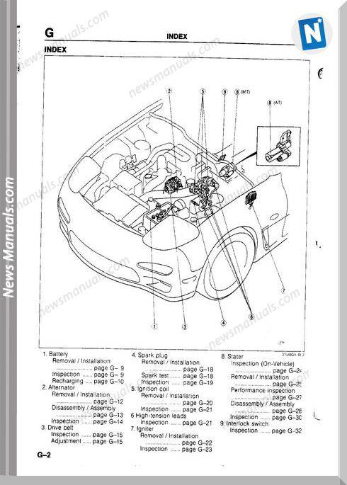 Mazda Rx 7 Engine Electrical Systems
