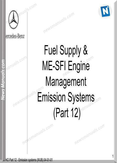 Mercedes Training Ho Part 12 Emission Systems Wjb