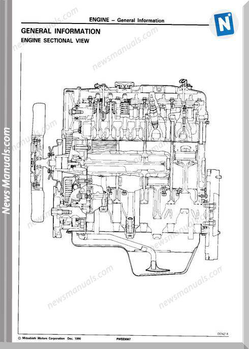 Mitsubishi Engine 4D56 1991 1993 Workshop Manual
