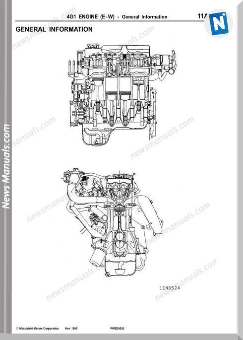 Mitsubishi Engine 4G1 Models Series Shop Manual