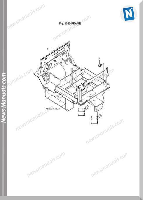 Mitsubishi Forklift Fb20Ca,Fb25Ca,Fb28Ca,Fb30Ca Parts