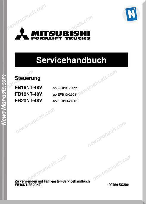 Mitsubishi Forklift Trucks 99759-5C300 Service Manual