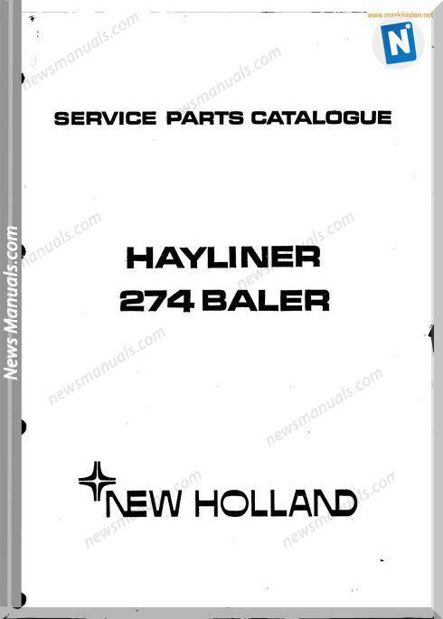 New Holland 274 Small Baler Parts Sec Wat