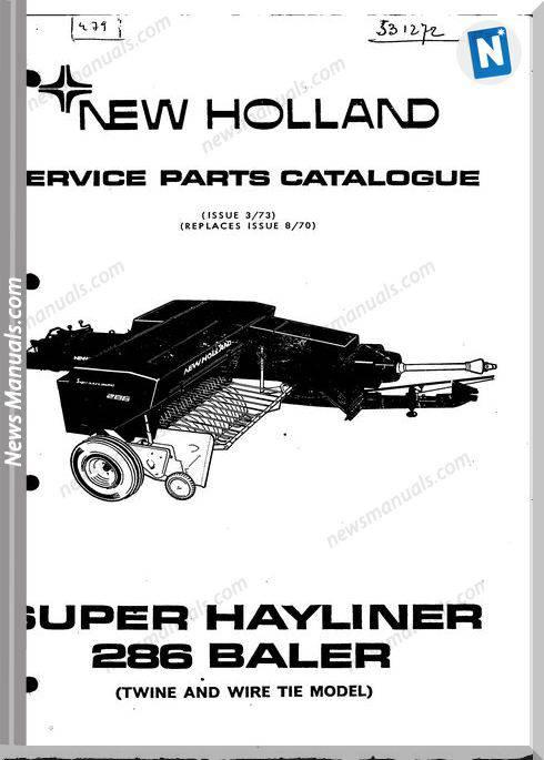 New Holland 286 Part Catalogue