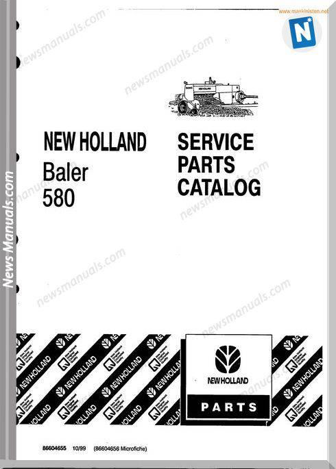 New Holland 580 Small Baler Parts Sec Wat