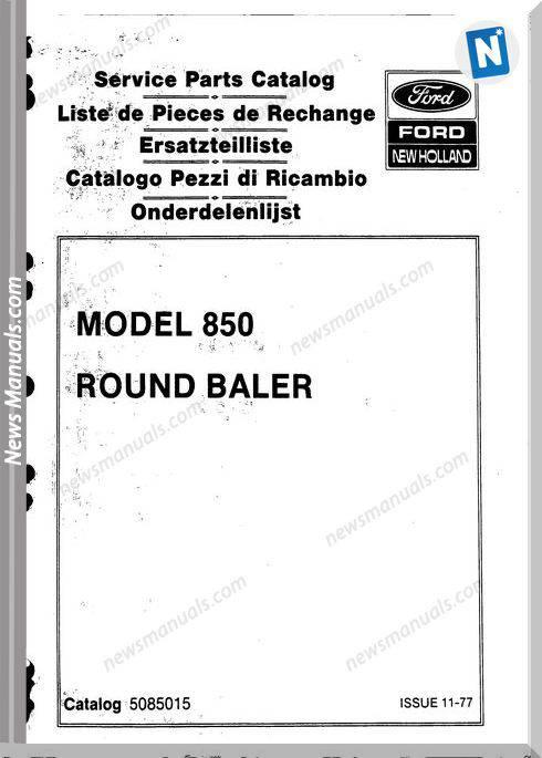 New Holland 850 Part Catalogue