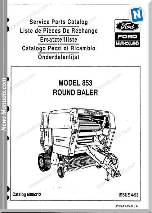 New Holland 853 Part Catalogue