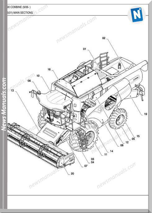 New Holland Combine Cx8090 Parts Manuals