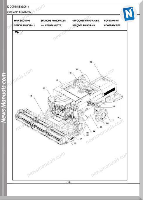 New Holland Cs6050 Combine Parts Catalog