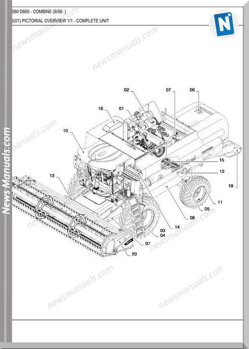 New Holland Csx7080 Combine Parts Catalog