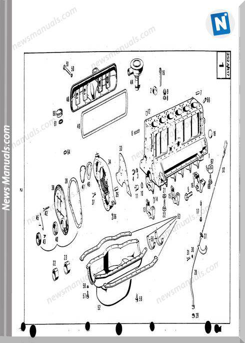 New Holland Engine Meceds Om-352 900.417 Part Catalogue