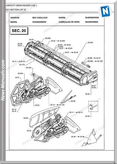 New Holland High-Capacity Grain Header Parts Catalog