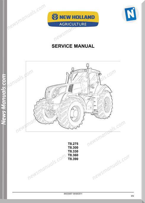 New Holland T8 Series Service Manual
