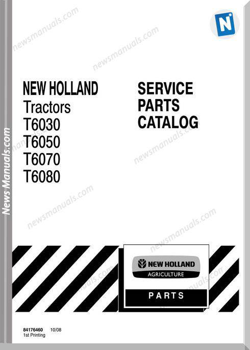 New Holland Tractor T6000 Parts Manual