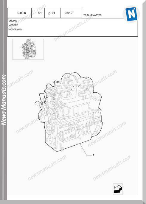 New Holland Tractor Td5.110 Parts Manual